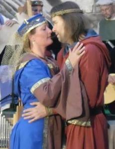 Tristan und Isolde beim Falkensteiner Minneturnier